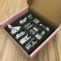 11Pcs Domestic Sewing Machine Presser Foot Feet  Accessories Z8W7