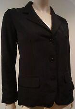 Agnes B Donna Nero Collo a V con i risvolti Formale Blazer taglia:36 UK8