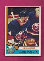 1974-75 OPC # 101 ISLANDERS JEAN POTVIN ROOKIE EX-MT CARD (INV# 8015)