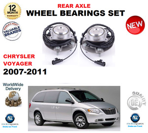 FOR CHRYSLER GRAND VOYAGER REAR WHEEL BEARINGS 2007-2011 LEFT and RIGHT PAIR
