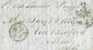 21014# USA COVER LETTER PACIFIC 27 JAN1852 TO USA COLLINS LINE.