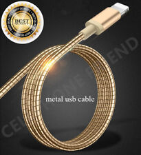 MFi Lightning Metal Fast Cable USB Charger for Apple iPhone 5S 6S Plus 8 X GOLD