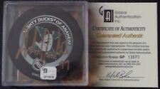 ADAM OATES Anaheim Ducks Signed Autographed Official NHL Game Puck w/ GAI COA