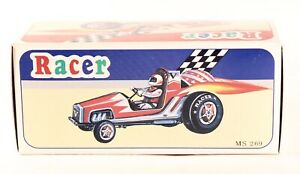 Tin Toy Mechanical Wind-Up Racer. New In Box!