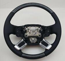 Range Rover OEM L405 2013+ Ebony Black & Argento Pinstripe Heated Steering Wheel