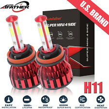 H11 H9 H8 LED Headlight 6000K 2215W 332250LM 4-Side Low Beam Bulbs or Fog Lights