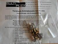 Multiplex Torisions-Antriebssatz für Landeklappen und Querruder