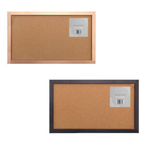 Frame Cork Notice Pin Board Postcards Notes Pictures Hanging Hooks Pins