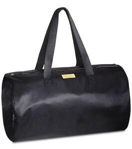 CAROLINA HERRERA GOOD GIRL Black Satin Travel Shoulder Bag