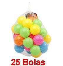Set 25 Bolas de Colores para Parque infantil,bebés,niños,de plástico,bolsa red