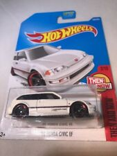 2017 Hot Wheels #330 Then and Now 2/10 '90 HONDA CIVIC EF White w/Black Pr5 sp