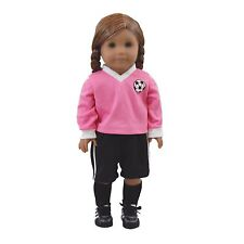 "18"" Doll Clothes SOCCER SHORTS,JERSEY, SOCKS Outfit Fits American Girl Clothing"