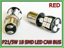 P21/5W 380 BAY15D 1157 RED 18 SMD CAN BUS LED STOP TAIL CAR BULBS HONDA