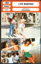 L'ETE MEURTRIER - Adjani,Souchon,Becker (Fiche Cinéma) 1983 - One Deadly Summer
