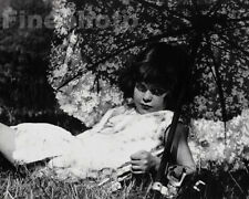1933 Original LITTLE GIRL & PARASOL Hungary France Photo Art By NORA DUMAS 11x14