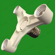 GES E40 to 3ES E27 Bulb Socket Converter Adaptor Multiply Photograph Lamp Light