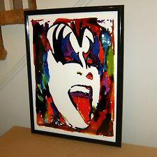 Gene Simmons Kiss Singer Bass Hard Rock Music Poster Print Wall 18x24