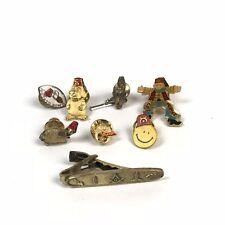 Vintage Free Mason Lot Of 7 Pins & 1 Tie Clip Assorted Masonic Freemasonry
