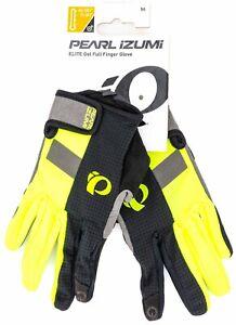 Pearl Izumi ELITE Gel Full Finger Glove Men MEDIUM Hi Viz Yellow Road Bike MTB