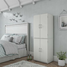 Tall Storage Cabinet Kitchen Pantry Cupboard Organizer Furniture Home White