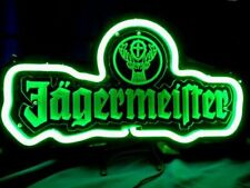 """Jagermeister German 3D Carved Neon Sign 14""""x7"""" Lamp Light Beer Bar With Dimmer"""