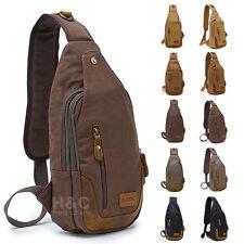 Canvas Military Hiking Messenger Travel Chest Pack Backpack Sling Shoulder Bags