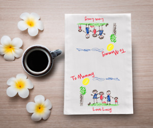 Your Child's Image / Picture  Printed On A Tea Towel 60cm x 40cm Personalised