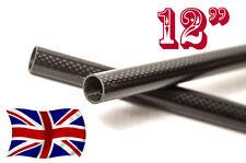 """2 x 15mm in Fibra di Carbonio bacchette/bar/TUBI DSLR Rig 12"""" (qualsiasi lunghezza su richiesta)"""
