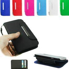 Flip Cover Back a Libro Ultra Slim Sottile in Eco Pelle per Huawei Ascend G535 Azzurro