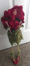 "Dept 56 Krinkles Rose Bouquet Doll 21"" Tall Patience Brewster Christmas Retired"