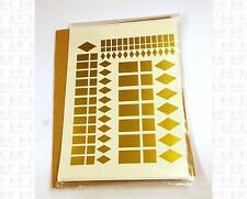 Virnex HO Decals Diamond Rect Square Logo Shapes Gold 1999