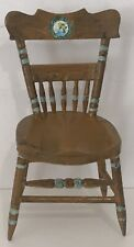 Vintage Dollhouse Miniature Handmade Side Chair Brown Accent Style #8