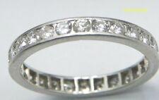 TIFFANY & CO Full Circle Diamond Band Ring Size 5 Platinum