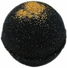 Bath Bomb 5.5 Oz Black Velvet and Gold Sparkles w Kaolin Clay & Coconut Oil