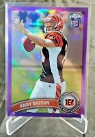 2011 Topps Chrome Retail Purple Refractor /499 Andy Dalton #51 Rookie