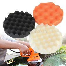 "3x 6"" Inch Waffle Foam Polishing Buffer Pad Kit 150x25mm for Auto Car Polisher"
