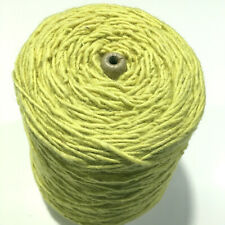 Vintage Coarse Single Ply Wool For Tapestry, Rugs, Med. Lt. Yellow, 1 Lb 1.9 Oz