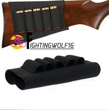 Shotgun Rifle 5 Round Buttstock Shell 12 20 Gauge Cartridge Holder Elastic Loops