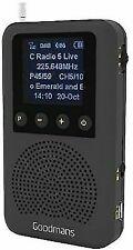 GOODMANS GDPRDAB POCKET SIZED DIGITAL RADIO - BLACK GRADE B