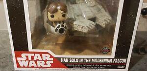 LAST ONE Han Solo The Millenium Falcon Funko Pop Vinyl SE NEW #321 Bobble Head