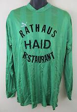 Puma Vtg 90s Retro Football Shirt Shiny Green Soccer Jersey Trikot Skjorte #6 XL