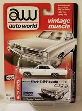 2015 AW Auto World Vintage Muscle 1964 Pontiac Grand Prix White 1:64 Die Cast S4