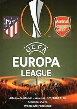 Atletico Madrid v Arsenal 3/5/2018 Europa Cup Semi-Final stadium programme