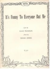 """""""IT'S FUNNY TO EVERYONE BUT ME"""" SHEET MUSIC-PIANO/V/CHORDS-1944-RARE-NEW-MINT!!"""