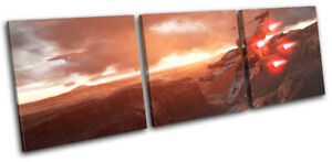 Star Wars Battlefront X-Wing Gaming TREBLE CANVAS WALL ART Picture Print