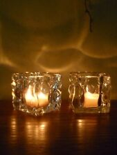 PartyLite Glacier Pair Candle Holders ~ Excellent Pre-Owned Condition ~