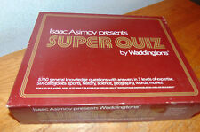 Isaac Asimov presents SUPER QUIZ by Waddingtons - 1982 Trivia Game buy it now !!