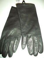 Ladies Grandoe 100% Cashmere Lined Genuine Leather Gloves,Large, Black