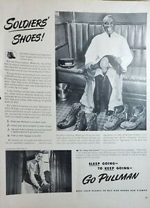 Lot of 3 Vintage 1940 Pullman Railroad Car Ads