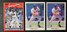 1990 Leaf #220 (x2) Donruss #489 Sammy Sosa Chicago White Sox Rookie Card RC